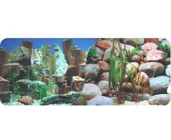 Фон 60см. Камни скалы синий и Камни, - 1 -aquamagaz.ru
