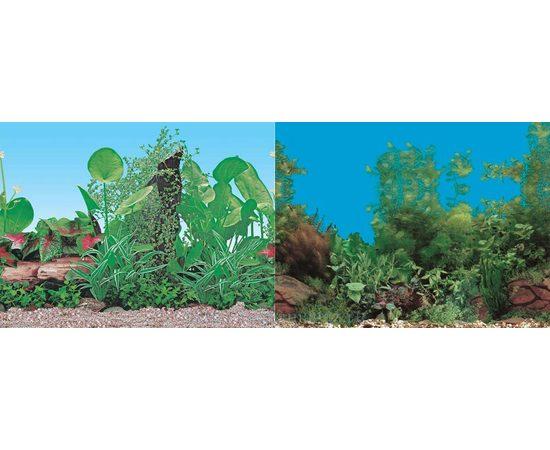 Фон 60см. Растительный синий и Растительный с камнем синий, фото