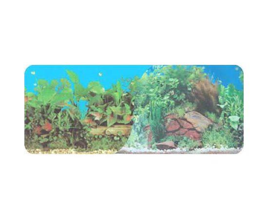 Фон 30см. Растительный синий и Скалы, фото