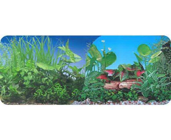 Фон двухсторонний 40см. Растительный (синий) / Растительный нимфея (синий)