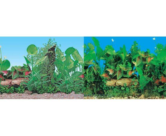Фон 60см. Растительный синий и Растительный нимфея синий, фото