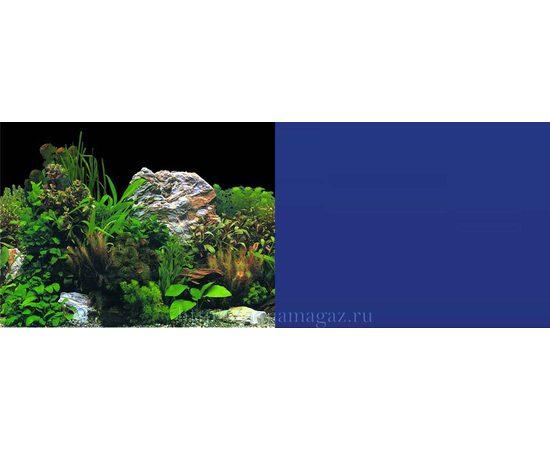 Фон 60см. Растительный с камнем черный и Темно-синий однотонный, фото