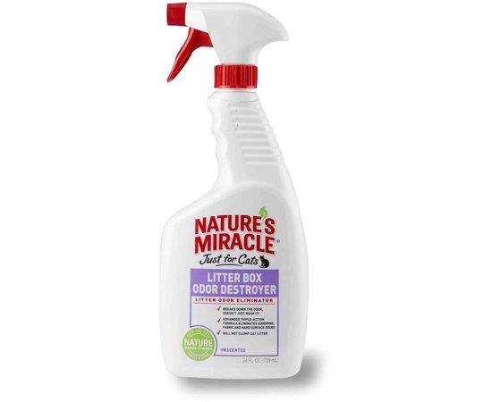 8in1 средство для устранения запаха в кошачьем туалете NM Litter Box Odor Destroyer спрей 710 мл, фото