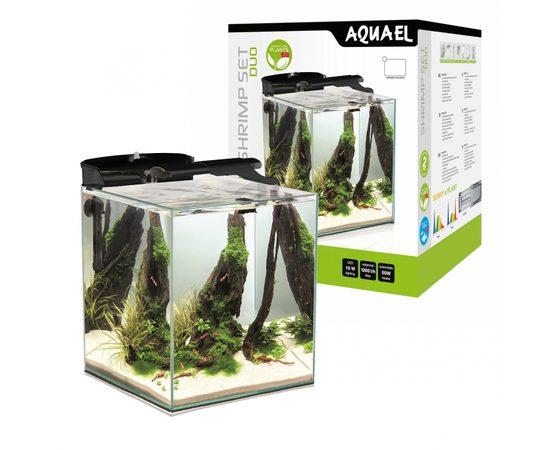 AQUAEL Аквариум Shrimp Set DUO LED/49л черный, 35х35х40см., - 1 -aquamagaz.ru