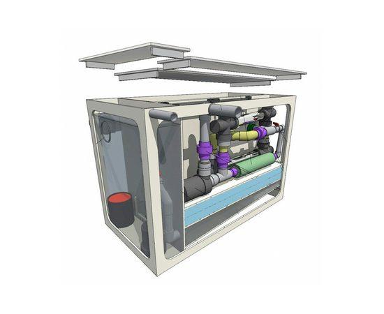 Гравитационный биофильтр ASTET GBF 150, Выбор вариации: Базовая: корпус фильтра + основной насос + дренажный насос + фильтрующие маты+ таймер, фото