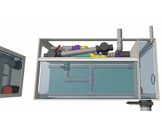 Гравитационный биофильтр ASTET GBF 150, Выбор вариации: Базовая: корпус фильтра + основной насос + дренажный насос + фильтрующие маты+ таймер, фото , изображение 4