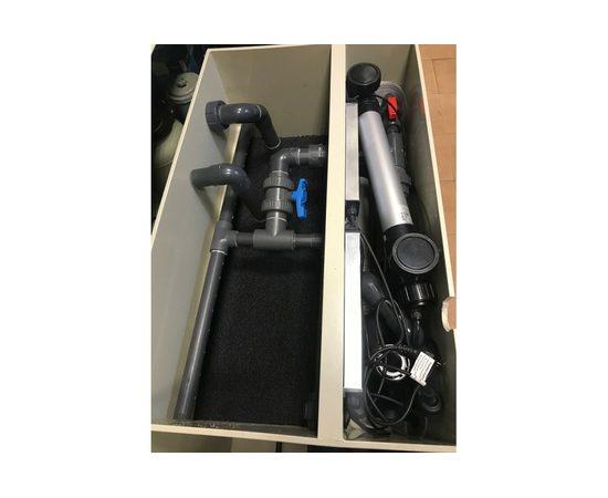 Гравитационный биофильтр ASTET GBF 150, Выбор вариации: Базовая: корпус фильтра + основной насос + дренажный насос + фильтрующие маты+ таймер, фото , изображение 5