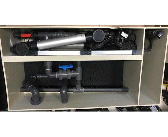 Гравитационный биофильтр ASTET GBF 150, Выбор вариации: Базовая: корпус фильтра + основной насос + дренажный насос + фильтрующие маты+ таймер, фото , изображение 6