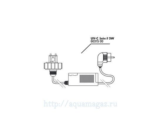 Крышка корпуса с цоколем лампы в комплекте с блоком питания для UV-C стерилизатора JBL lid+electronic ballast 5 Вт, - 1 -aquamagaz.ru