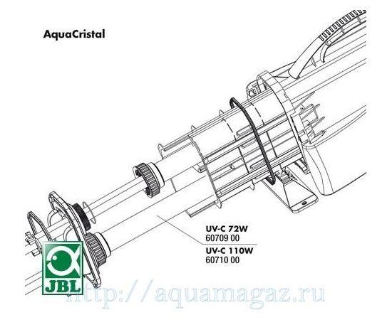 Кварцевая колба для УФ-стерилизатора JBL AquaCristal UV-C 72 W JBL UV-C 72 W fused silica insert, - 1 -aquamagaz.ru