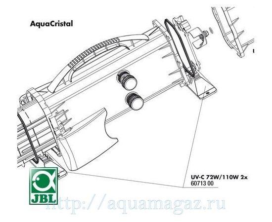 Ножки-крепления для УФ-стерилизаторов JBL AquaCristal UV-C 72/110W 2 шт. JBL UV-C 72/110W pedestal, фото