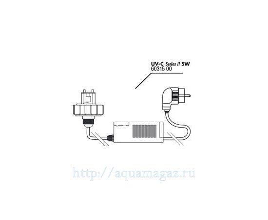 Крышка корпуса с цоколем лампы в комплекте с блоком питания для UV-C стерилизатора JBL lid+electronic ballast 5 Вт, - 2 -aquamagaz.ru