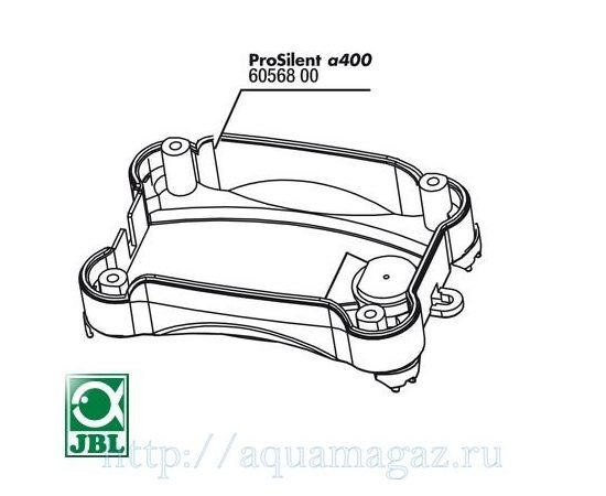 Нижняя часть корпуса компрессора ProSilent a200 с ножками JBL PS a200 casing bottom, - 1 -aquamagaz.ru