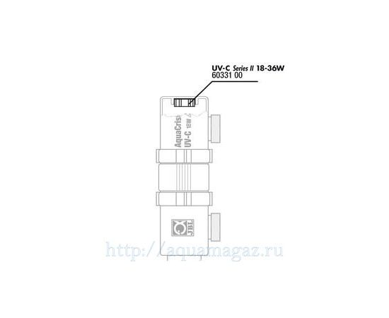 Присоединительный резьбовой штуцер с двумя прокладками для UV-C стерилизатора JBL Tails 9-36 Вт, - 2 -aquamagaz.ru