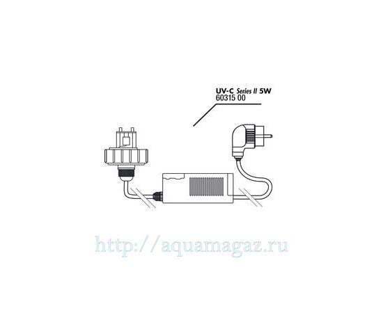 Крышка корпуса с цоколем лампы в комплекте с блоком питания для UV-C стерилизатора JBL lid+electronic ballast 18 Вт, - 3 -aquamagaz.ru