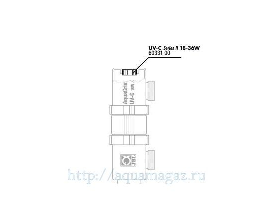 Присоединительный резьбовой штуцер с двумя прокладками для UV-C стерилизатора JBL Tails 9-36 Вт, - 3 -aquamagaz.ru