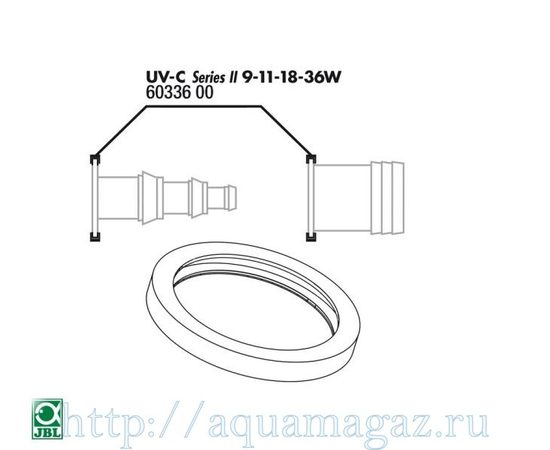 Прокладка кварцевого кожуха для UV-C стерилизаторов JBL O-ring for 9-36W connection, - 4 -aquamagaz.ru