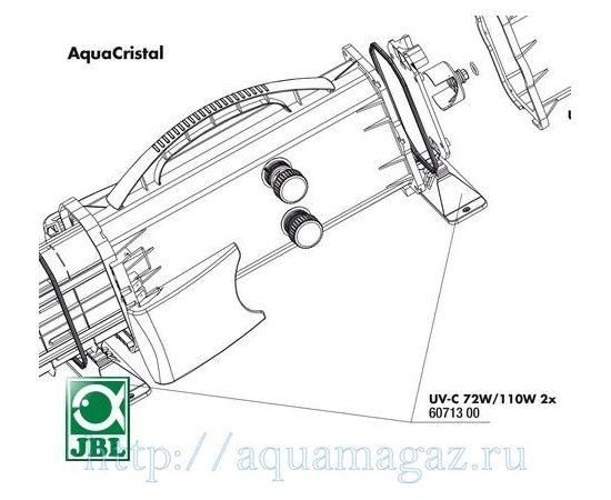Ножки-крепления для УФ-стерилизаторов JBL AquaCristal UV-C 72/110W 2 шт. JBL UV-C 72/110W pedestal, фото , изображение 3