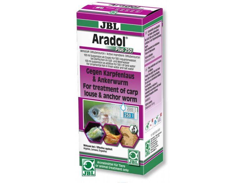 Препарат против червей, карпоедов, сосальщиков и других ракообразных паразитов JBL Aradol Plus 250, 100 мл